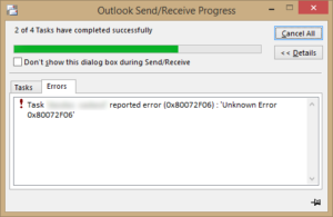 Outlook-error-0X80072F06