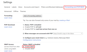 manual method to transfer gmail email to outlook