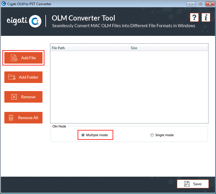 Convert OLM file to PST file format