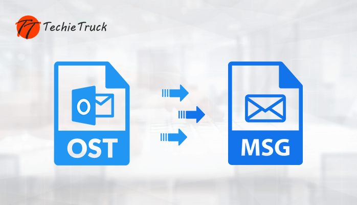 How to convert OST to MSG file format