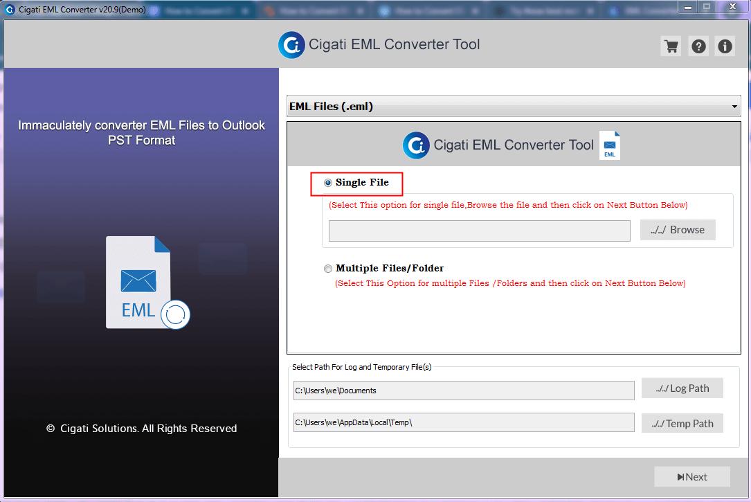 Convert EML to PDF