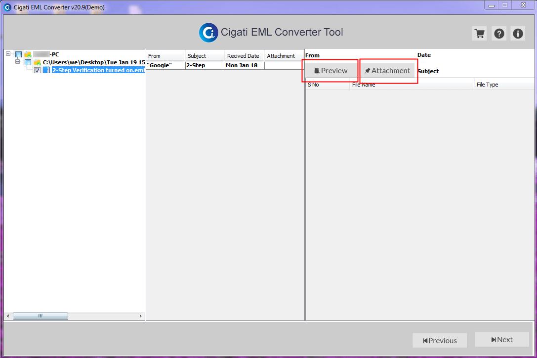 EML Email File migration